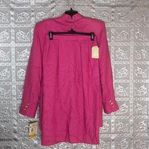 NWT Giraffe Fuchsia Pink Career Skirt Suit Size 10